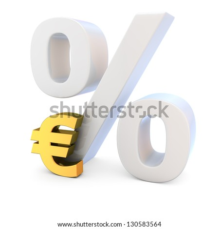 High exchange rate of euro currency - stock photo
