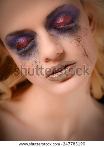 High Fashion Makeup - stock photo