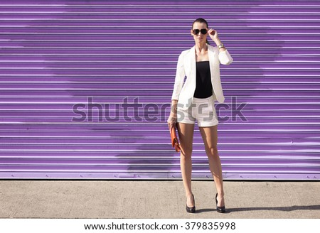High fashion model striking a pose.  - stock photo