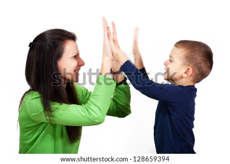 HIgh five, hand gesture - stock photo