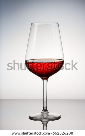 High glass with still red wine