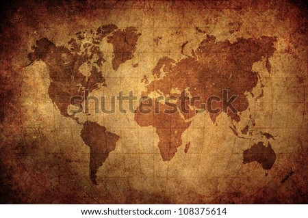 Old world map stock images royalty free images vectors high grunge zinc world map with latitude and longitude lines gumiabroncs Images