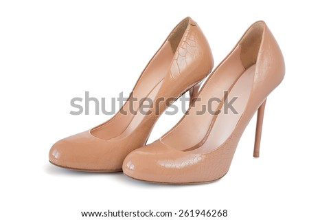 High heel shoes - stock photo