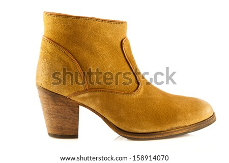 high heel women shoes on white background