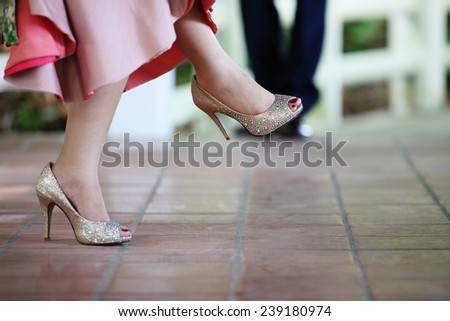 High heels. - stock photo