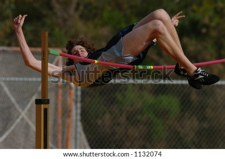 high jump at track meet