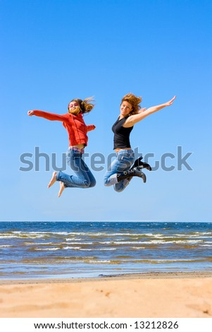 "high jumping girls - See similar images of this ""Beach"" series in my portfolio"