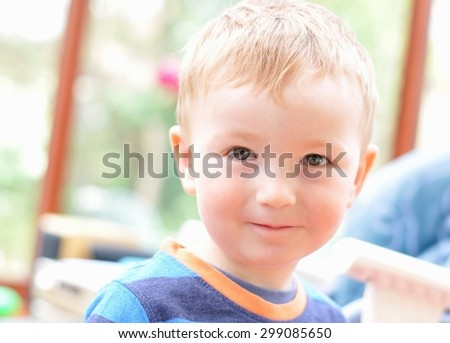 High-key portrait on an innocent child