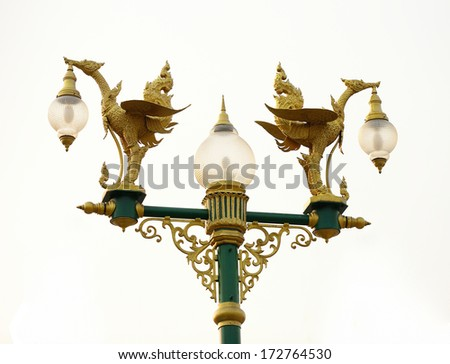 High lamp with sky.  - stock photo