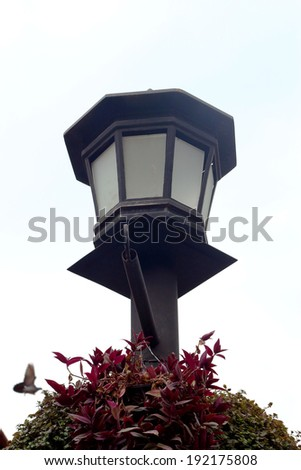 high lamps vintage - stock photo