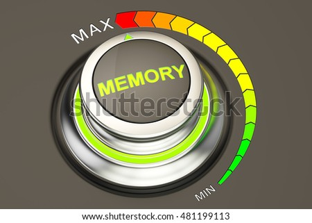 high level memory concept, 3D rendering