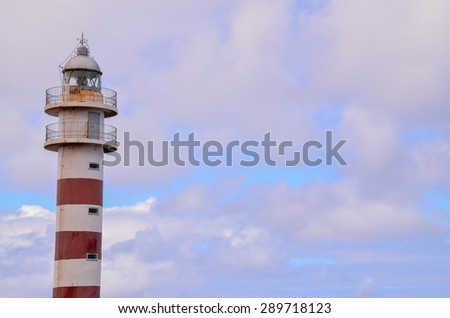 High Lighthouse near the Coast in the Canary Islands
