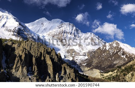 High mountain in summer time. Beautiful natural landscape - stock photo