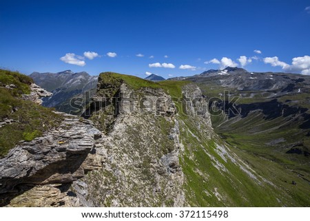 High mountain landscape - Alps, Austria - stock photo