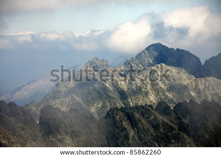 High mountain landscape in the High Tatras