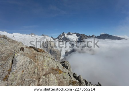 High mountain scenes from the  Zillertal Alps - Italy