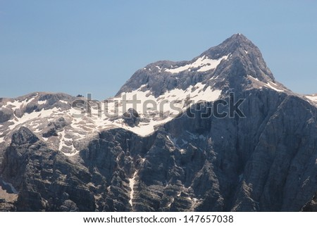 High mountains (Alps) in Slovenia