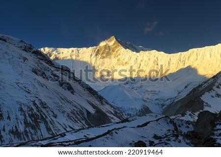 High mountains in Himalaya. Beautiful natural landscape  - stock photo