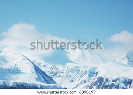 High mountains under snow in the winter - more similar photos in my portfolio