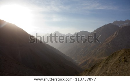 High mountains view