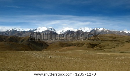 high on the tibetan plateau in the himalayan mountains of Tibet