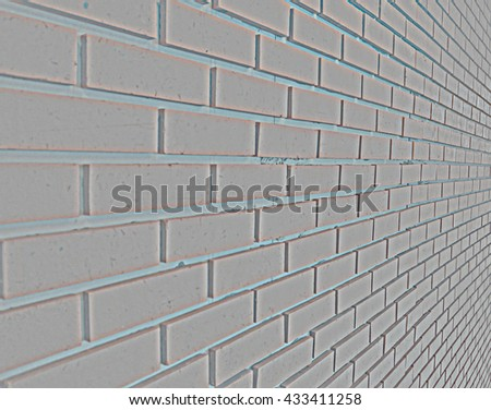 High pass grey  brick wall side vision