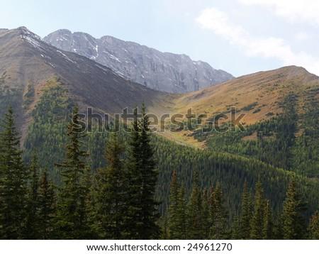 High Pass through Rocky Mountains - stock photo