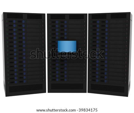 High Performance Servers - stock photo