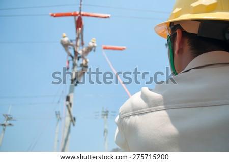 High Power Maintenance - stock photo