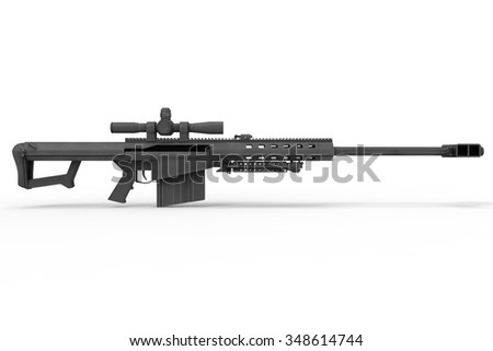 High Power Sniper Rifle - stock photo