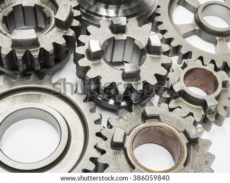high precision automotive gear box close up - stock photo