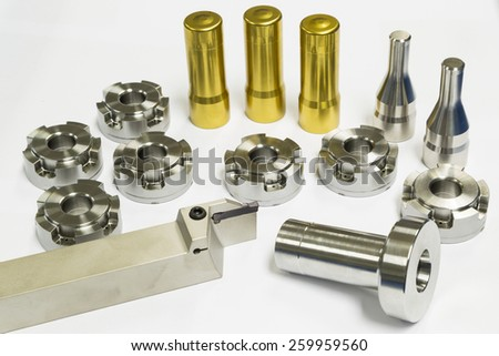 high precision automotive machining mold and die parts of forging process - stock photo