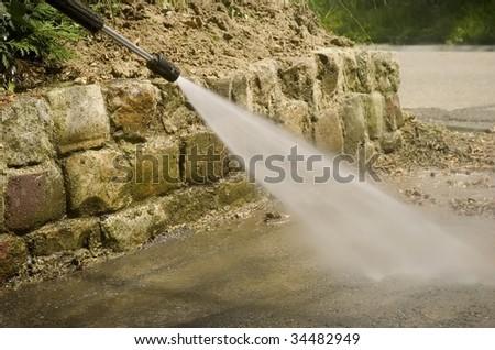 high pressure cleaner - stock photo