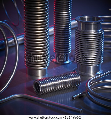 High Pressure Hose Components - stock photo