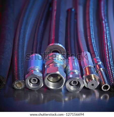 High Pressure Hoses - stock photo