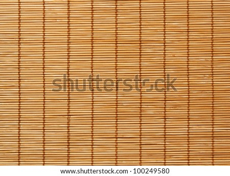 High Quality Bamboo Mat texture background - stock photo