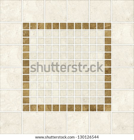 High-quality Beige mosaic pattern decor  background. - stock photo