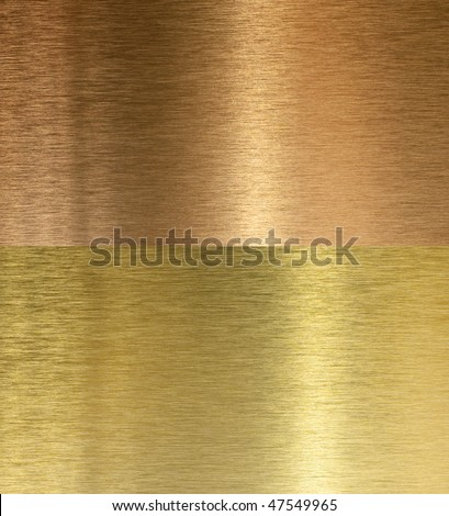 high quality bronze texture with light reflection - stock photo