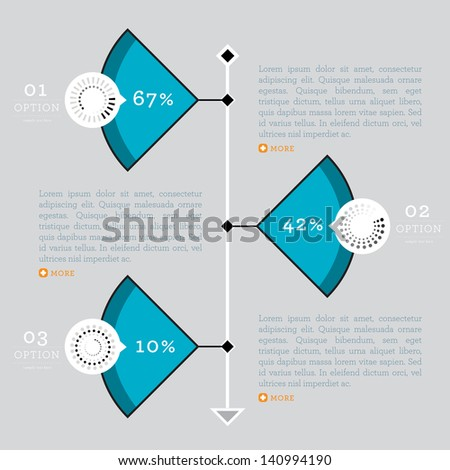 High quality business infographic elements for web and print usage. For vector version, see my portfolio. - stock photo
