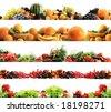фото: Высокое качество сбор фруктов и овощей границы на белом фоне