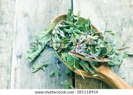 high quality dry herbal tea/toned photo - stock photo
