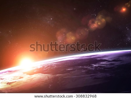 High quality Earth image. Elements of this image furnished by NASA - stock photo