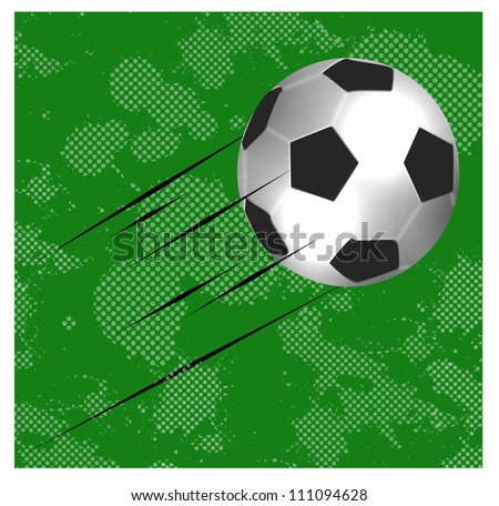 high quality isolated soccer ball - stock photo