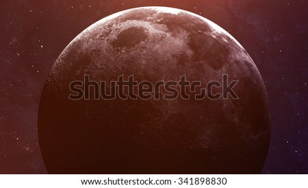 High quality Moon image. Elements of this image furnished by NASA