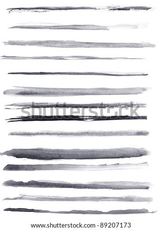 High resolution abstract watercolor lines for your projects - stock photo