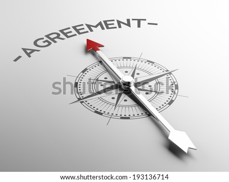 High Resolution Agreement Concept - stock photo