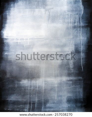 High Resolution Artistic Blue Painted Texture Background on Canvas - stock photo