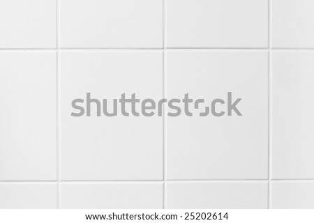 high resolution background of a white tiled wall. Ideal for many cool designs. - stock photo