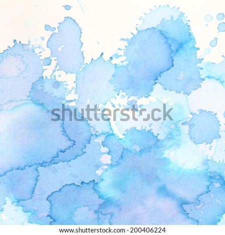 high resolution, beautiful blue abstract watercolor background - stock photo