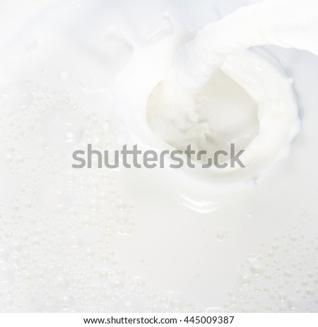 High resolution beautiful splash of natural milk. Can be used as background
